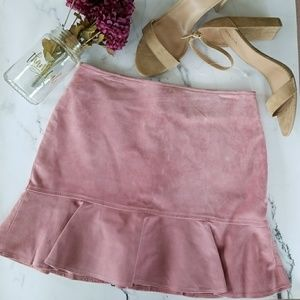 🎉HP🎉Blush Pink Leather Skirt